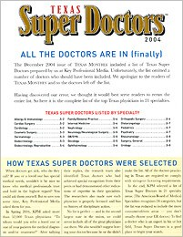 Texas Super Doctors - Dallas Plastic Surgeon Steven White MD