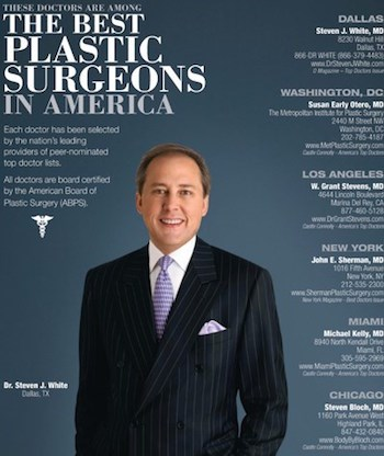 The Best Plastic Surgeons in America Magazine Cover